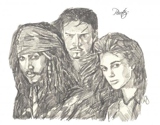 Johnny Depp, Orlando Bloom, Keira Knightley por CoreyHuskins
